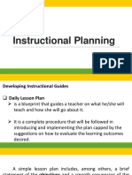Presentation Instructional Planning