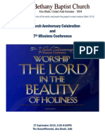 5th Church Anniversary Programme Draft