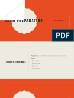 Tutorial 3 Exam Preperation
