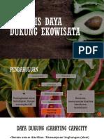 p3 - Analisis Daya Dukung Ekowisata A