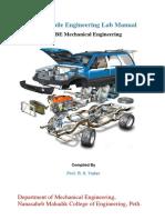 Automobile Engg Lab Manual