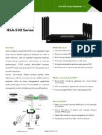Mbox HSA-500 Datasheet