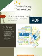 Marketing in organization
