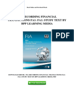 Financial Recording Transactions