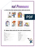 Personal Pronouns 2 Pages