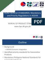 Road vehicle standards