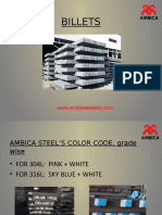 Ambica Steel's Color Code, Grade wise