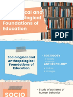 4 Sociological and Anthropological Foundations of Education