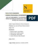 Residuos Hospitalarios en El Hospital Regional de Cajamarca-2018 t2 Final