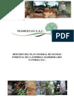 Resumen Del Pgmf Maderyja-cf Peru