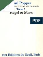 Popper, Karl - La société ouverte et ses ennemis II Hegel et Marx