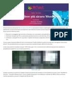 Come rendere più sicuro WordPress?