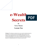 Lesson10 E-wealth Secrets Terry Mason