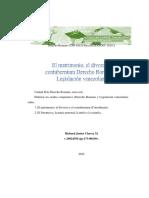 3 El Matrimonio, El Divorcio y El Contubernium Derecho Romano y Legislación Venezolana-Rubenrammstein