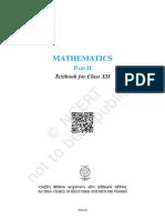 Mathematics Part 2 Class 12