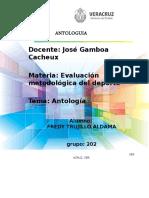 ANTOLOGIA Evaluacion Metodologia Del Deporte