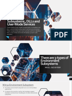 Subsystems , DLLs and User-Mode Services