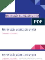 Representación algebraica de un vector
