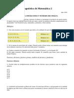 Diagnóstico de Matemática 2