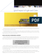 Psychological Impact of Light and Color