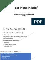 Five years plan