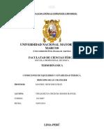 Equilibrio y Condiciones de Estabilidad Termidinamica