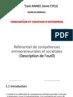 Cours 3 Référentiel de Compétences Entrepreneuriales Et Sociétales