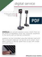 Brochure Exhibition Remote Access Robotics