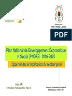 Presentation du PNDES