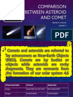 Asteroid and Comet