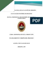 Planeamiento y Diseño Del Proceso