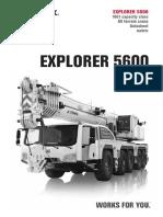Tabla de Carga Terex Explorer 5600 160 Tm