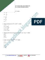 Latihan Soal Matematika (Akpol)