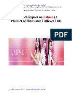 Project Report on Lakme 130103224651 Phpapp02