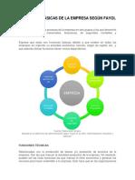 Funciones Básicas de La Empresa Según Fayol