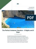 Andaman Trip Itinerary