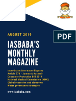 IAS UPSC Current Affairs Magazine AUGUST 2019 IASbaba