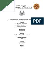 2. Especificaciones Para El Proyecto de Alcantarillado