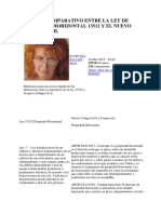 Cuadro Comparativo Entre La Ley de Propiedad Horizontal 13512 y El Nuevo Código Civil