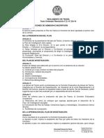 reglamento de tesinas