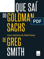 Porque saí do Goldman Sachs?