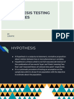 Hypothesis Testing and Types