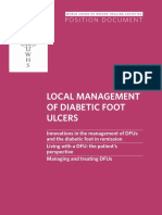 Position Document Local Management Diabetic Foot Ulcers