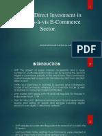 FDI in E-commerce