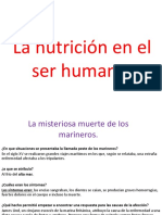 La Nutrición en El Ser Humano