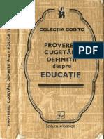 @@@ - Proverbe, Cugetari, Definitii Despre Educatie - Albatros - 478 Pag.