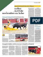 El Comercio (Lima-Peru) Lun 7 Oct 2019 (Pag A29) Pag Taurina