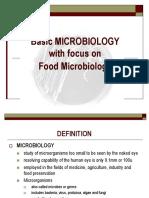 Basic Microbiology 1 Training Module Man U