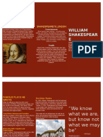William Shakespeare leaflet