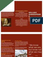 William Shakespeare leaflet